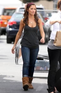 Minka Kelly On The Set Of 'The Roommate'